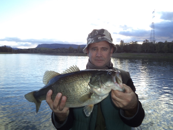 Le plus gros des bass pris pendant le  séjour un peu plus de  2kg,  en pêchant le brochet, pas mal un mois de janvier. Bravo Bernard