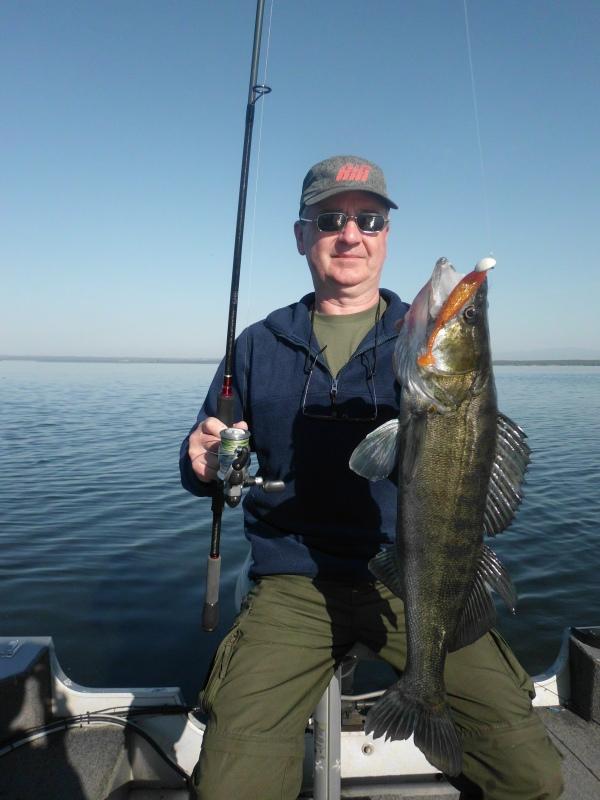 Christian novice de la pêche au sandre aura plutôt bien réussi !